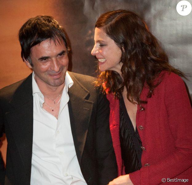 Samuel Benchetrit, Anna Mouglalis lors de l'avant-première du film Un voyage à Paris le 10 avril 2014