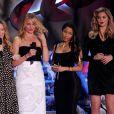 Leslie Mann, Cameron Diaz, Nicki Minaj et Kate Upton sur la scène des MTV Movie Awards 2014, le 13 avril 2014.