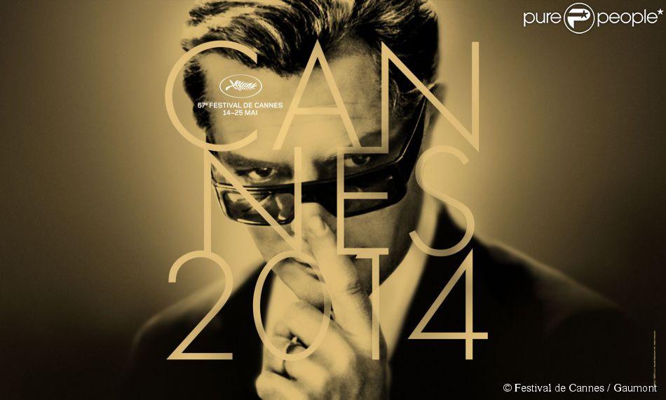 Affiche du Festival de Cannes 2014 avec Marcello Mastroianni.