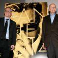 Thierry Frémaux et Gilles Jacob - Conférence de presse, tenue par Gilles Jacob, président du Festival de Cannes et Thierry Frémaux, délégué général du festival à Paris, le 17 avril 2014, afin d'annoncer la sélection officielle de la 67ème édition du Festival de Cannes qui se tiendra du 14 au 25 Mai 2014.