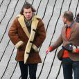 Tournage du clip de You and I, des One Direction, à Clevedon Pier Somerset, au Royaume-Uni, le 24 mars 2014.