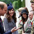 Le prince William et Kate Middleton ont assisté le 25 avril 2014 à Canberra, au dernier jour de leur tournée en Australie, aux célébrations de l'Anzac Day, commémorant dans toute l'Océanie les soldats tombés au champ d'honneur.