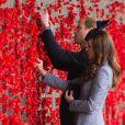 Kate Middleton et le prince William ont pu admirer le mur de coquelicots au mémorial national de Canberra, le 25 avril 2014, et déposer une fleur, au dernier jour de leur tournée en Australie, à l'occasion de l'Anzac Day, commémorant dans toute l'Océanie les soldats tombés au champ d'honneur.