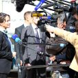Ségolène Royal, ministre de l'Ecologie, du Développement durable et de l'Energie - Sortie du conseil des ministres au palais de l'Elysée à Paris, le 9 avril 2014.
