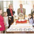 50 ans de la princesse Astrid de Belgique, fêtés en famille le 2 juin 2012. Une famille en apparence unie...