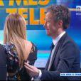 Jean-Luc Lemoine et Enora Malagré dans Touche pas à mes jeux télé, le vendredi 25 avril 2014 sur D8.