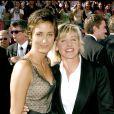 Ellen DeGeneres et Alexandra Hedison aux Emmy Awards à Los Angeles le 19 septembre 2004