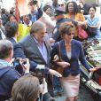 Gerard Depardieu et Jacqueline Bisset sur le tournage du film Welcome to New York à New York le 25 avril 2013.