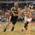 San Antonio Spurs lors du match San Antonio Spurs - Chicago Bulls. Chicago, le 11 mars 2014.