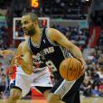Tony Parker lors du match San Antonio Spurs - Washington Wizards. Washington, le 5 février 2014.