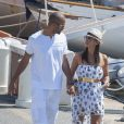 Tony Parker et sa fiancée Axelle à Saint-Tropez, le 20 août 2013.