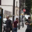 Matthieu Ribaud - Tournage d'un nouveau concept, Les People passent le Bac à Paris le 26 avril 2014.