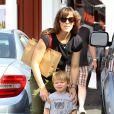 Jennifer Garner et Samuel à Brentwood, Los Angeles, le 3 mai 2014