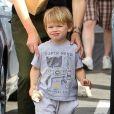 L'adorable Samuel Affleck Brentwood, Los Angeles, le 3 mai 2014. Ici, avec l'adorable petit Samuel