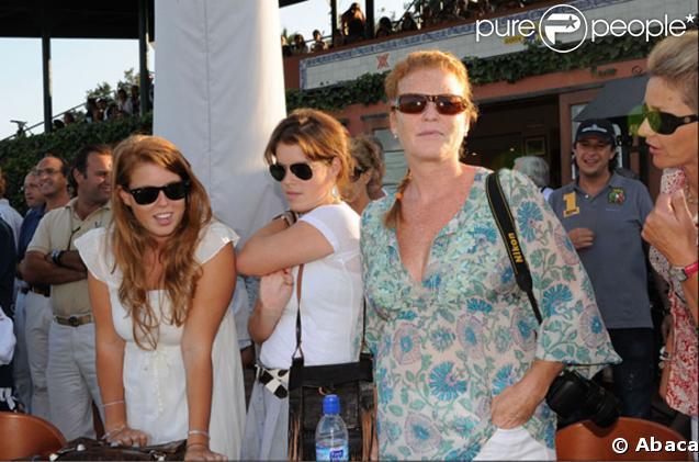 Sarah Ferguson et ses filles Eugénie et Béatrice