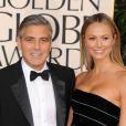 George Clooney et Stacy Keibler le 13 janvier 2013.
