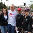 Lilly Tartikoff, Bruce Willis, Halle Berry et Christina Applegate lors de la 21e course EIF Revlon Run/Walk For Women à Los Angeles, le 10 mai 2014.