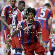 Dante fête le titre de champion d'Allemagne avec le Bayern Munich le 10 mai 2014.