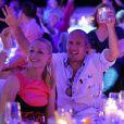 Arjen Robben et sa femme Bernardien fêtent le titre de champion d'Allemagne avec le Bayern Munich le 10 mai 2014.