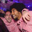 Dante et Franck Ribery fêtent le titre de champion d'Allemagne avec le Bayern Munich le 10 mai 2014.