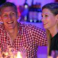 Bastian Schweinsteiger et sa belle Sarah Brandner fêtent le titre de champion d'Allemagne avec le Bayern Munich le 10 mai 2014.