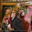 Arjen Robben et Franck Ribery fêtent le titre de champion d'Allemagne avec le Bayern Munich le 10 mai 2014.
