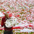 Pep Guardiola célèbre le titre de champion d'Allemagne avec le Bayern Munich le 10 mai 2014.