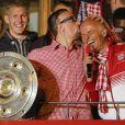 Franck Ribery célèbre le titre de champion d'Allemagne avec le Bayern Munich le 10 mai 2014.