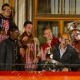 Franck Ribery et Arjen Robben fêtent le titre de champion d'Allemagne avec le Bayern Munich le 10 mai 2014.