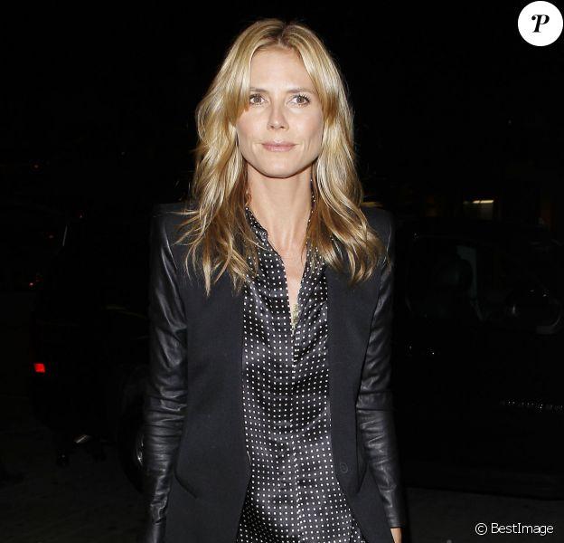 Heidi Klum arrive à l'aéroport LAX de Los Angeles pour prendre une avion pour New York. Le 12 mai 2014