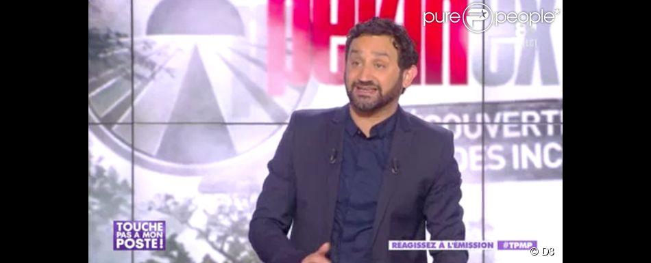 """Cyril Hanouna annonce l'arrêt de """"Pékin Express"""" (M6) dans l'émission """"Touche pas à mon poste"""", du 15 mai 2014."""