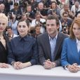 "Aymeline Valade, Amira Casar, Gaspard Ulliel, Léa Seydoux - Photocall du film ""Saint Laurent"" lors du 67e festival international du film de Cannes, le 17 mai 2014."