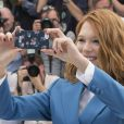 """Léa Seydoux - Photocall du film """"Saint Laurent"""" lors du 67e festival international du film de Cannes, le 17 mai 2014."""
