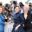 "Léa Seydoux, Amira Casar, Aymeline Valade - Photocall du film ""Saint Laurent"" lors du 67ème festival international du film de Cannes, le 17 mai 2014.  Call for ""Saint-Laurent"" at the 67th Cannes Film Festival in Cannes on May 17th 201417/05/2014 - Cannes"