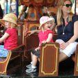 Autumn Phillips avec ses filles Isla et Savannah profitant du Royal Windsor Horse Show le 17 mai 2014.