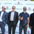 """Sylvester Stallone, Jason Statham, Harrison Ford, Mel Gibson, Wesley Snipes - Les acteurs du film """"Expendables 3"""" au photocall du film devant le Carlton dans le cadre du 67e festival du film de Cannes, le 18 mai 2014."""
