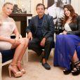 Exclusif - Kelly Vedovelli, Edouard Nahum et Marion Bartoli lors des essayages Edouard Nahum à l'Hotel Carlton, lors du 67e Festival de Cannes, le 19 mai 2014