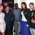 Exclusif - Kelly Vedovelli, Edouard Nahum, Akon, Marion Bartoli, Brahim Zaibat lors des essayages Edouard Nahum à l'Hotel Carlton, lors du 67e Festival de Cannes, le 19 mai 2014