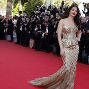 Cannes 2014 : Aishwarya Rai, divine et or, une apparition surnaturelle