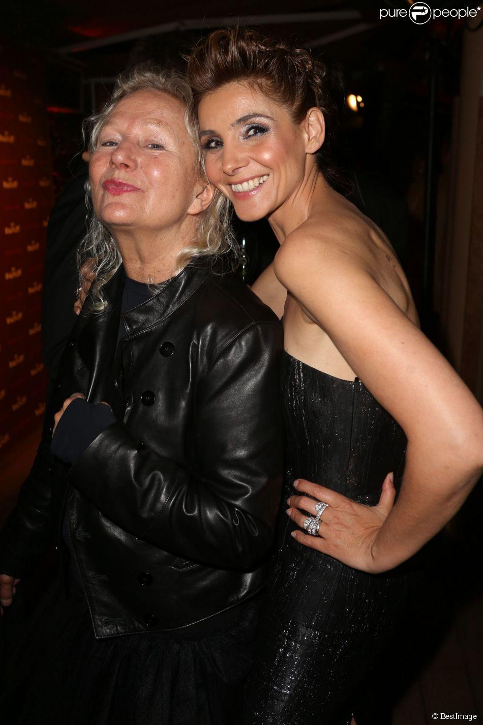 """Exclusif - Agnès B, Clotilde Courau lors de la soirée pour les films """"Le Sel de la Terre"""" et """"Queen and Country"""" sur la plage Magnum à Cannes, le 20 mai 2014."""