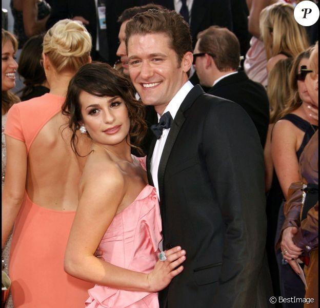 Lea Michele et Matthew Morrison, aux 68e Golden Globe Awards, à Los Angeles, le 18 janvier 2011.