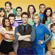 Lea Michele et les stars de Glee.