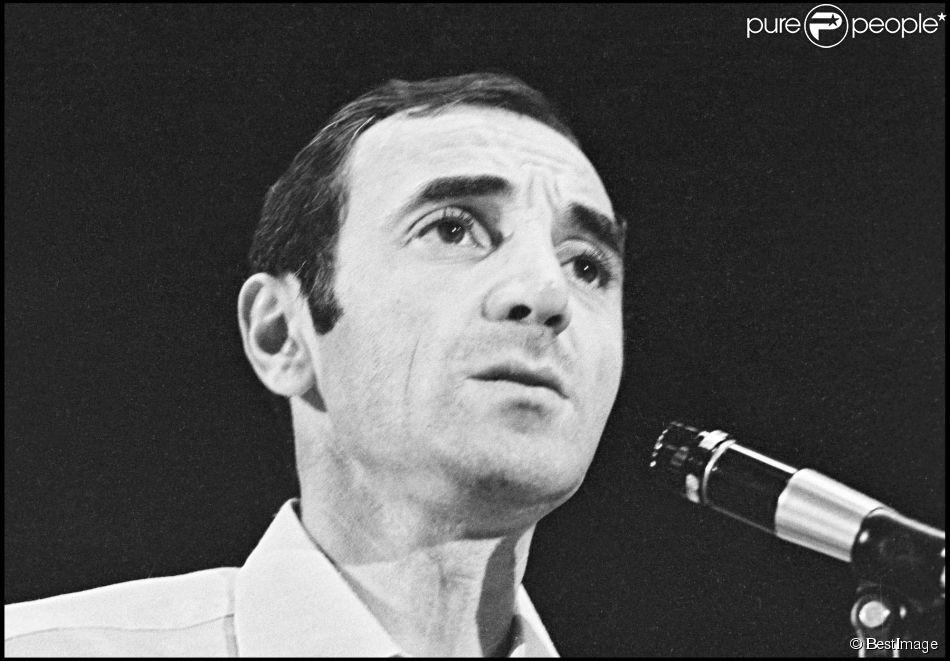 Charles Aznavour lors d'une émission de télévision (photo d'archive)