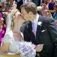 """"""" La princesse Carolina de Bourbon-Parme et Albert Brenninkmeijer lors de leur mariage religieux à Florence le 16 juin 2012 """""""