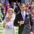 """"""" Carolina de Bourbon-Parme et Albert Brenninkmeijer lors de leur mariage religieux à Florence le 16 juin 2012 """""""