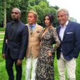 Kanye West, Valentino Garavani, Kim Kardashian et Giamcarlo Giammetti au château de Wideville. Crespières, le 23 mai 2014.