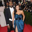 Kanye West et Kim Kardashian lors du Met Gala à New York, le 5 mai 2014.