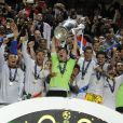 Les joueurs du Real Madrid lors de la finale de la Ligue des champions au Stade de la Luz à Lisbonne, le 24 mai 2014 entre le Real Madrid et l'Atlético Madrid (4-1)