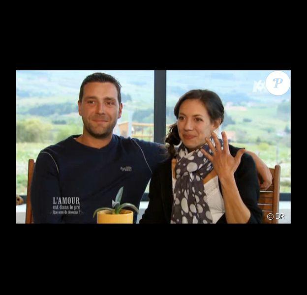 Sophie et Matthieu fiancés dans L'amour est dans le pré - Que sont-ils devenus ?, sur M6, le lundi 26 mai 2014
