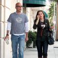 Bruce Willis et sa fille Scout LaRue dans les rues de Los Angeles, le 17 septembre 2005.
